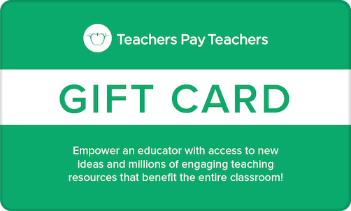 Teachers Pay Teachers gift card - gift idea for remote teachers