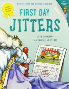 """Cover of the book """"First Day Jitters"""""""